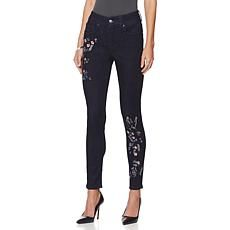Melissa McCarthy Seven7 Embroidered Skinny Jean - Missy