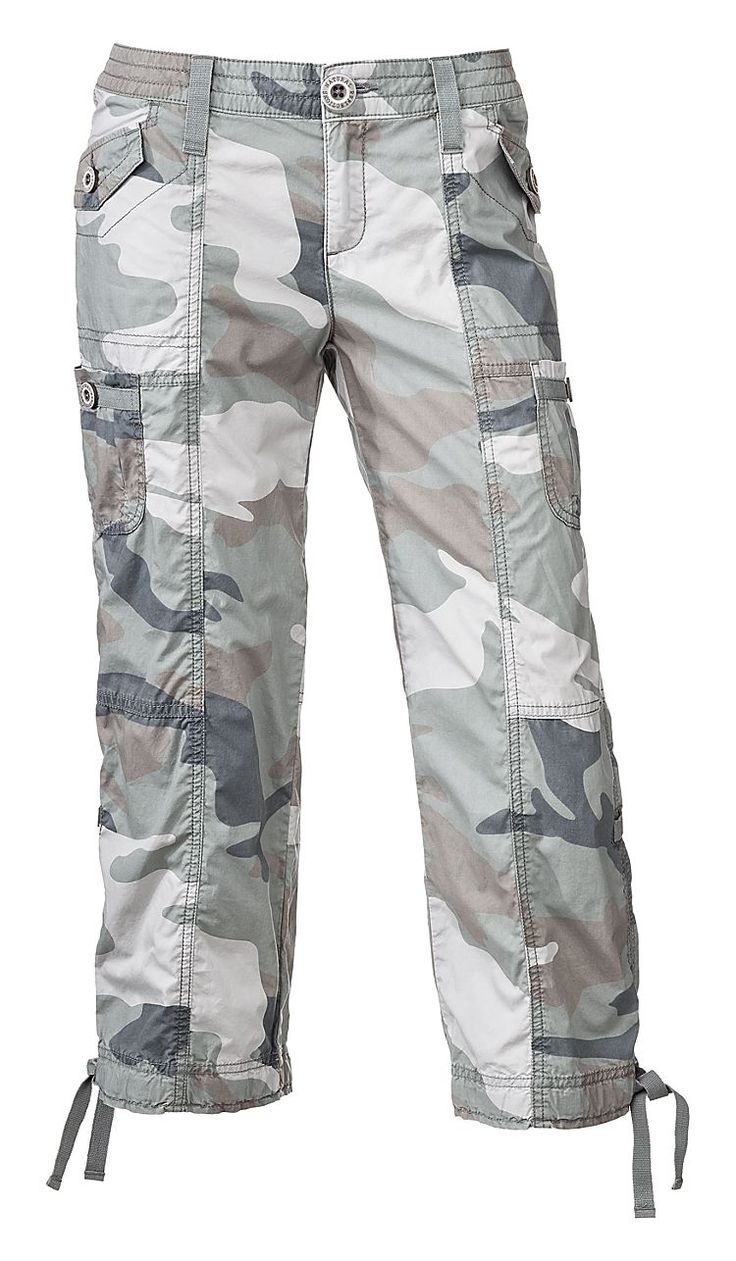 Love the way that you look when you put on these Women's Woodland Camo Capri Pants. They have a fun and bold style to accentuate a variety of outfits. These women's casual pants are made with soft fabric for comfort all day long. Wear them along with your favorite t-shirt or a tank top and some sandals, sneakers or boots.