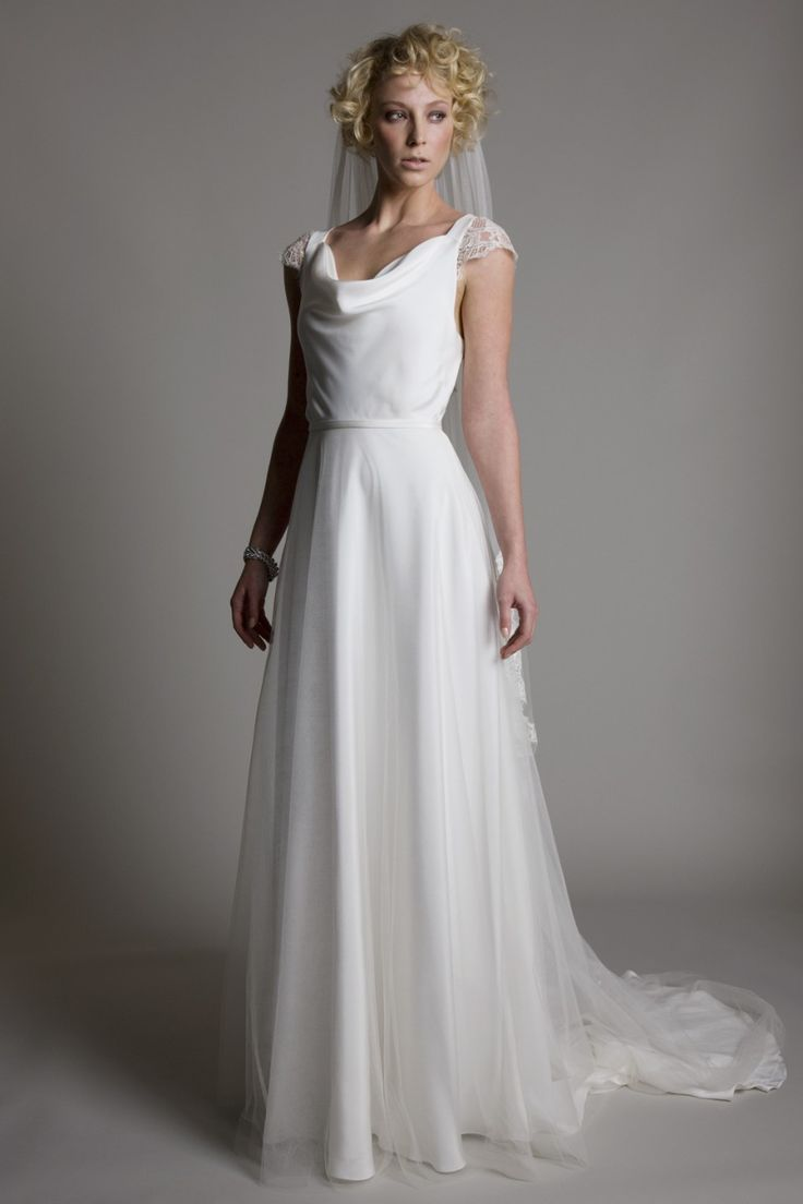 51 best images about halfpenny london bridal collection on for Satin cowl neck wedding dress