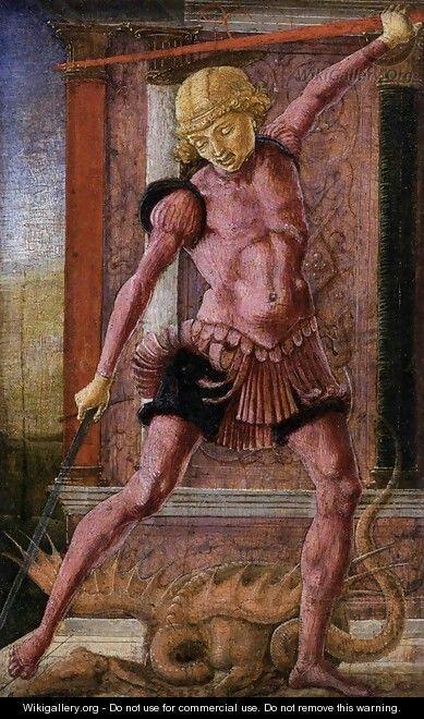 Cosme' Tura- S.Giorgio e il drago - Venezia Coll. CINI