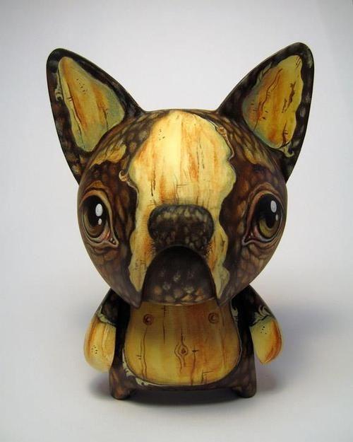 Woodgrain vinyl toy