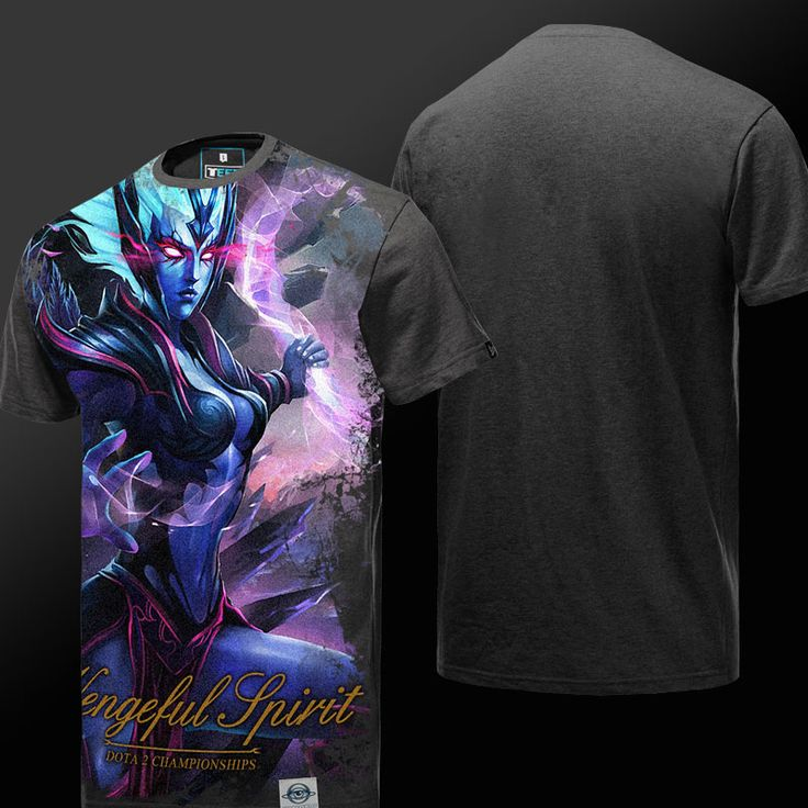DOTA 2 Vengeful Spirit T-shirt Defense of the Ancients Hero Tee