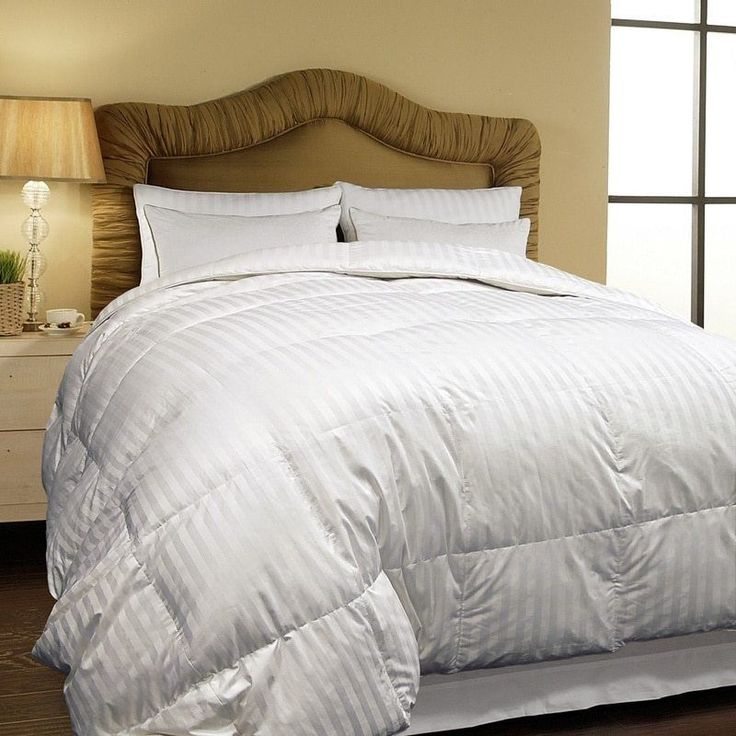 All Season Siberian White Down Comforter King Size Hotel Grand Oversized  500 TC #HotelGrand