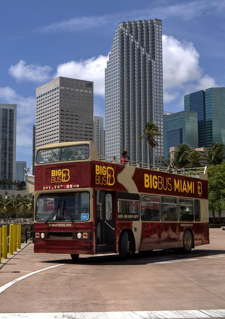 big bus miami hop-on hop-off open top tour with optional
