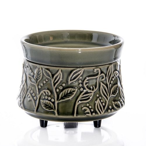 Green Ivy 2 in 1 Ceramic Candle Wax Warmer Tart Burner Electric  #Unbranded