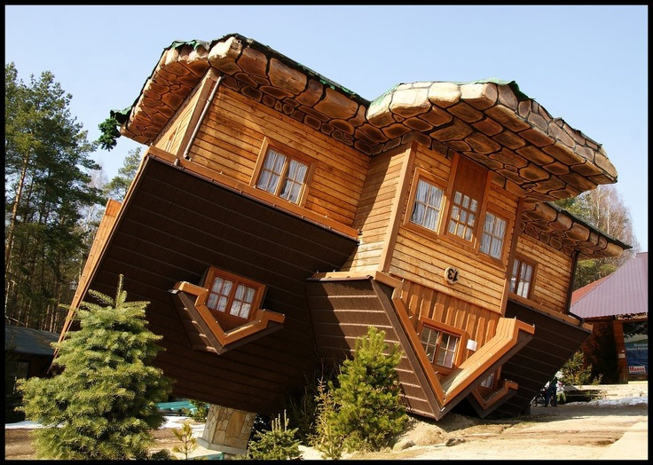 Upside Down house in Szymbark, Poland