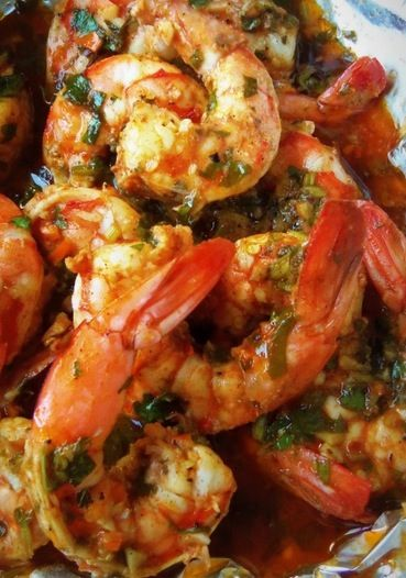 Spicy Cilantro Garlic Shrimp - Recipe, BBQ, Grilling, Main Dish, Quick and Easy, Seafood, Worcestershire Sauce, Garlic, Delicious