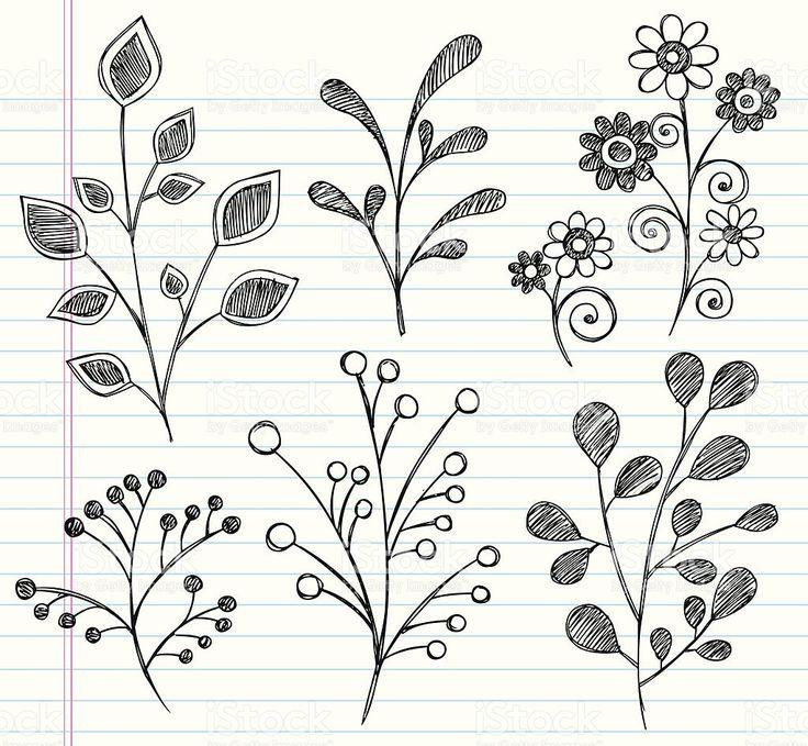 À mão Caderno de folhas de desenhos animados download vetor e ilustração royalty-free