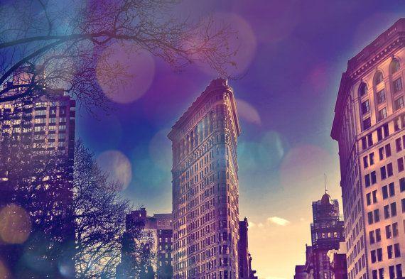 NYC Flatiron Fine Art Print - NYC Photography, Travel, New York, Cityscape, Flatiron Building, Wall Art, Large Sizes, 8x10, 12x18