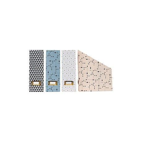 """Organizer """"The Artwork"""" - Lækre tidsskriftssamlere fra House Doctor.  Brug dem til opbevaring af blade, magasiner og papirer.  Findes i 4 forkellige varianter : Grå (med mønster) Lyseblå (med mønster) Hvid (med mønster) og Lyserød (med mønster)"""