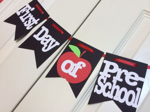 Back to School Banner  First/Last day of ___ Each grade is included Pre-12th