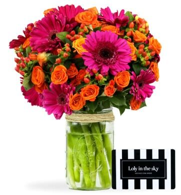 Conquístala con flores y Loly in the sky