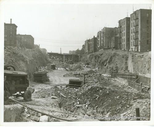 Week 6. Here is an example of re-urbanization made by Robert Moses. The Cross Bronx highway divided the community on two parts. High and middle classes moved to the north side making south side to be slums. Such segregational move destroys people urban interaction and healthy atmosphere of city.