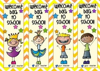 FREEBIE-Back to School Bookmarks