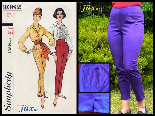 Flying purple people eaters - in search of the Perfect Pants Pattern