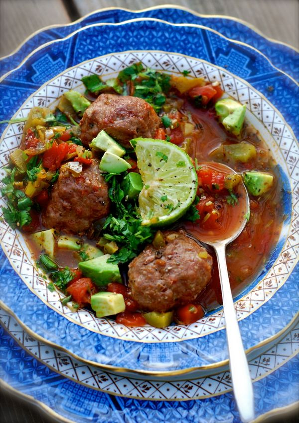 ALBONDIGAS {SPICY MEXICAN MEATBALL SOUP}