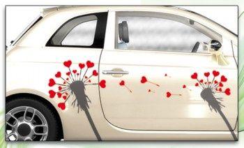 """Autoaufkleber """"Pusteblume"""" Aufkleber fürs Auto"""