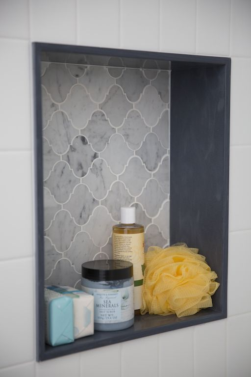 Olivia & Daniel's BATHROOM REVEAL - SHOWER NICHE DETAIL | Buying & Selling