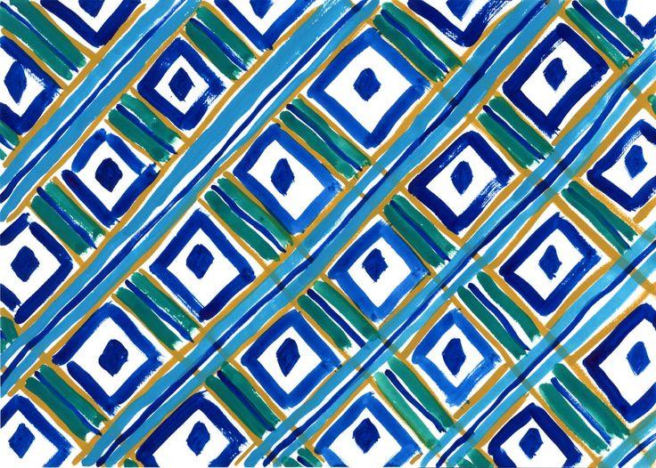 """""""Peacock"""", original artwork by Erja Hirvi for Samuji SS15"""