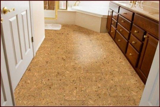 Light Cork Flooring in Bathroom Decor