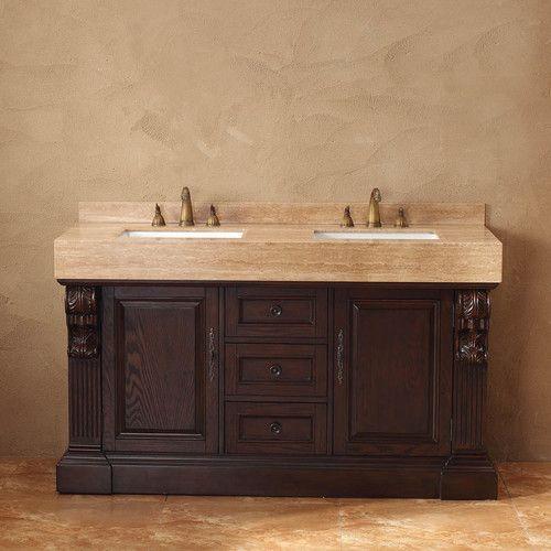 "Found it at Wayfair - Toscano 60"" Double Bathroom Vanity Set"