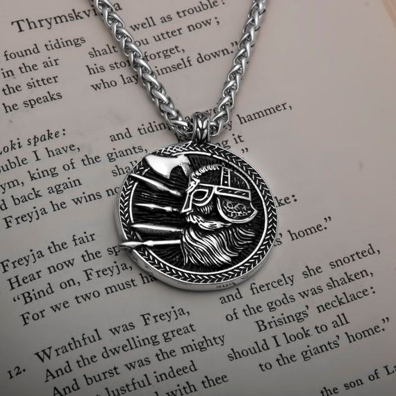 Viking Valknut Slain Warrior Knot Stainless Steel Pendant Necklace