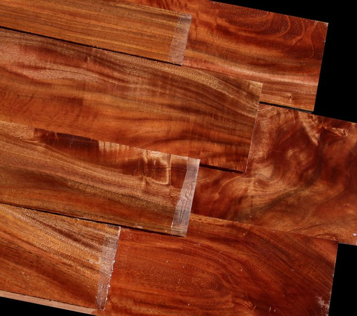 SOUTH PACIFIC KAMANI wood is slightly denser than Mahogany but works well and takes a fine polish. There is some shimmer in quarter sawn grain produced from slightly interlocked grain. Colors are similar to Hawaiian Koa minus the black streaks that can be present in Koa. The lighter colored blanks have some subtle figure while the darker heartwood blanks have warmer color tones.