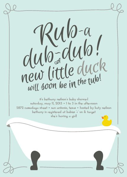Rubber Ducky Baby Shower Invitation