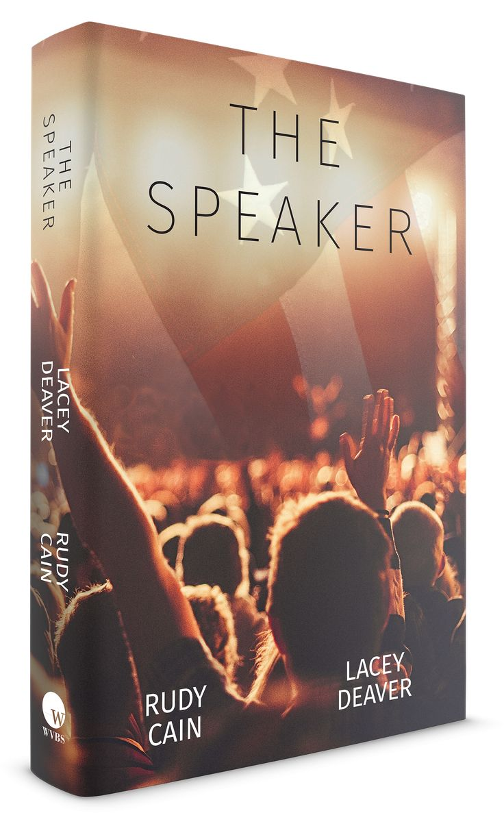 http://www.wvbs.org/index.php/the-speaker-softcover-book.html A compelling novel about an election year in America, lifted straight out of today's evening news.  This 399-page soft-cover book is a fictional story by Rudy Cain and written by Lacey Deaver.