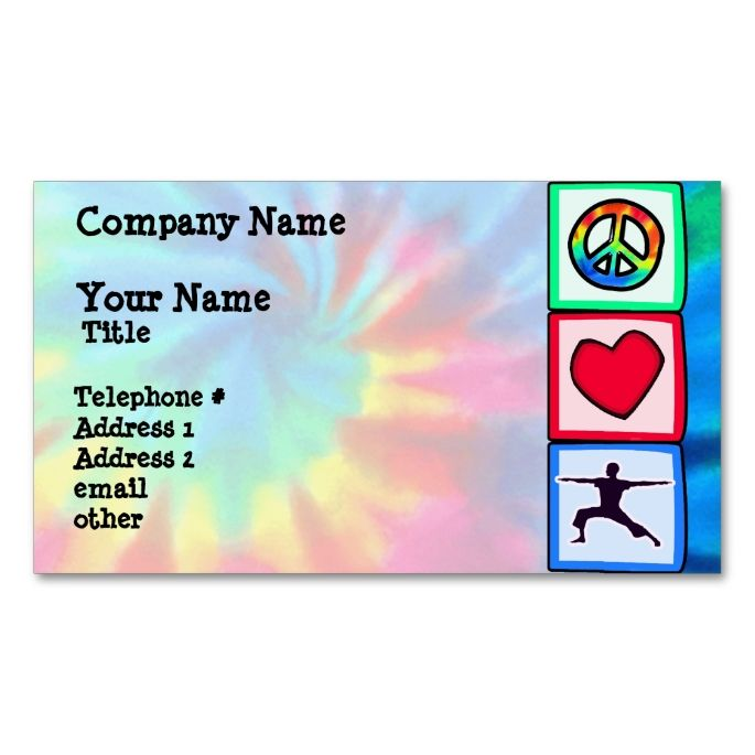 The 2156 best yoga business cards images on pinterest business peace love yoga business card reheart Image collections