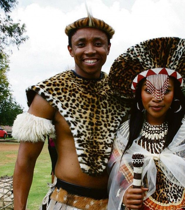 other zulu traditional wedding outfit options... this is more old school i think?