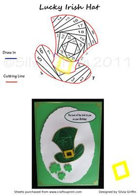 Lucky Irish Hat  on Craftsuprint designed by Silvia Griffin - How much luck will it bring to you