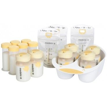 Medela Breastmilk Storage Solution $34 this is probably the best bottle deal - bags, caps, bottles, and little bottle sizes all in one!
