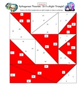 Pythagorean Theorem Practice: Is it a Right Triangle Fun Activity - Lisa Blagus - TeachersPayTeachers.com