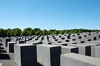 Berlin. The idea for a Holocaust Memorial was first proposed in 1988 but the design for the monument wasn't approved until 1999. At that time, U.S. architect Peter Eisenman's controversial design was chosen as a fitting tribute to the Jews that died before and during World War II as part of Hitler's plan to exterminate them.