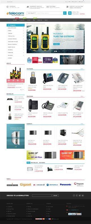 screenshot of etelecom.ro