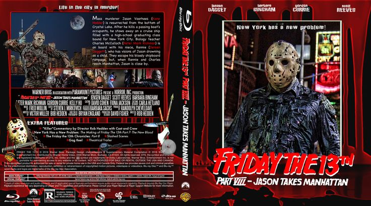 Friday The 13th Part 8-Jason Takes Manhattan Blu-ray Custom Cover