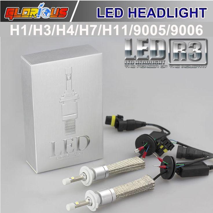 LED Автомобилей Супер Яркий 80 R3 Вт 9600LM Фары Автомобиля H7 H1 H3 H4 H11 9005 9006 Авто Передняя Лампа Фары противотуманные фары DRL Автомобиля освещение