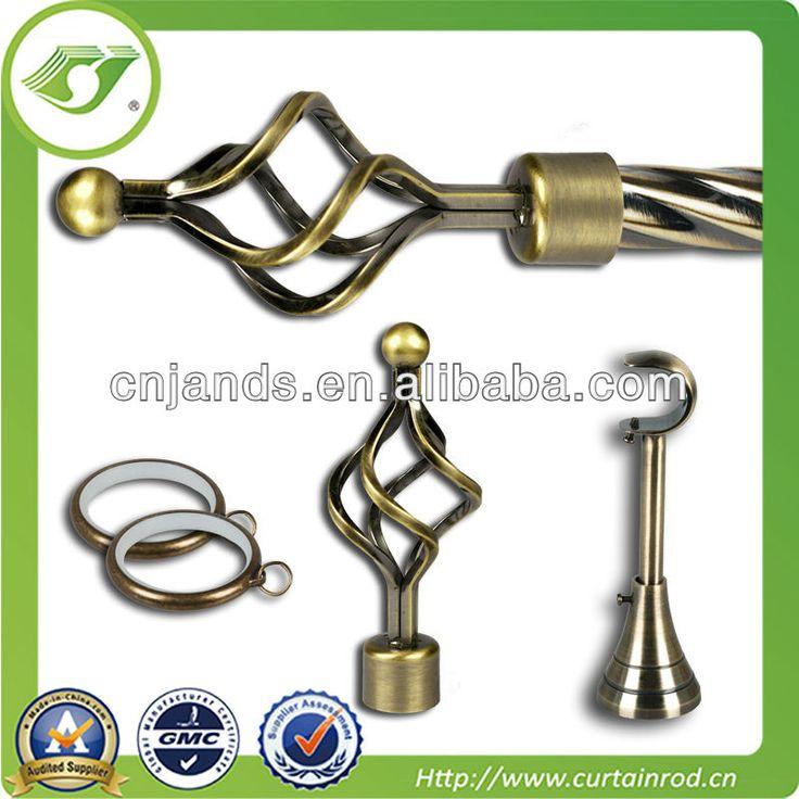 Twist Iron Curtain Finial For Metal Curtain Rod,cheap Curtain Pole/rod  $4.99~