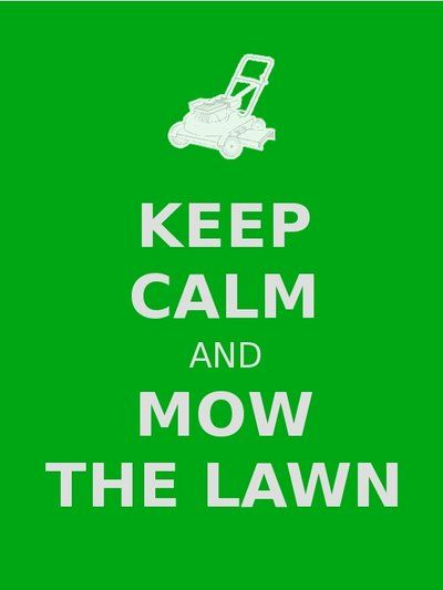 I love mowing the lawn! It's meditational I think :)