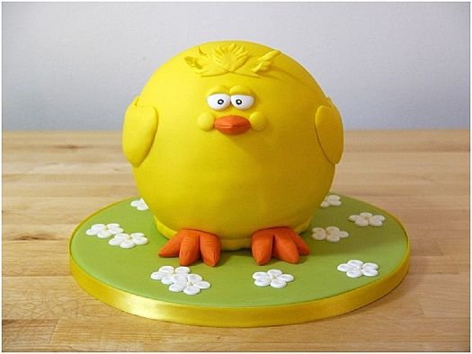 cakejournal: How to make an Easter chick cake