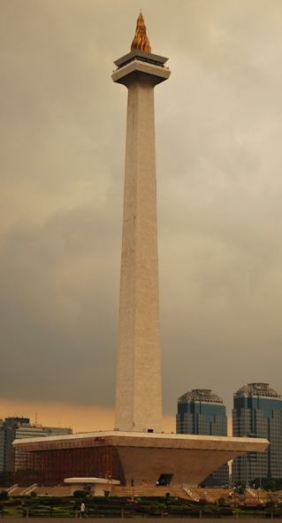 MONAS, Indonesia's National Monument. Funny Building Nickname.
