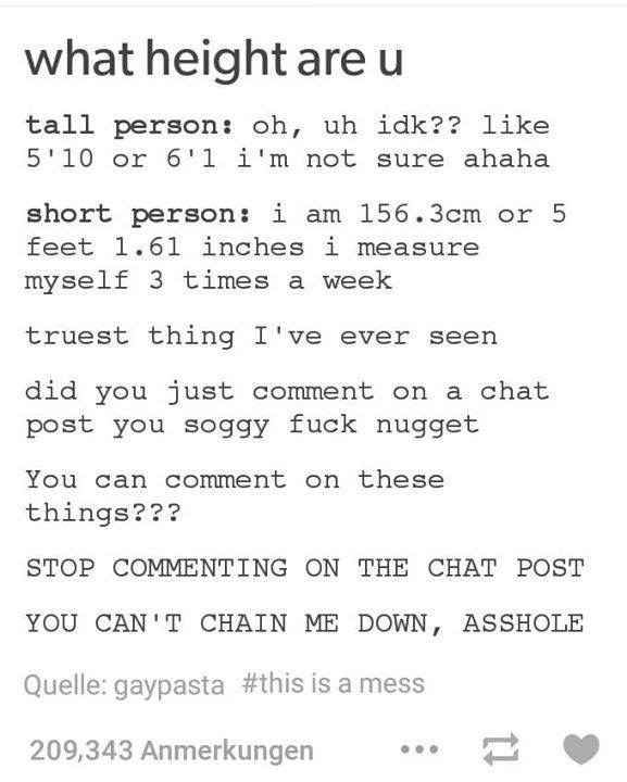 When someone commented on a chat post.
