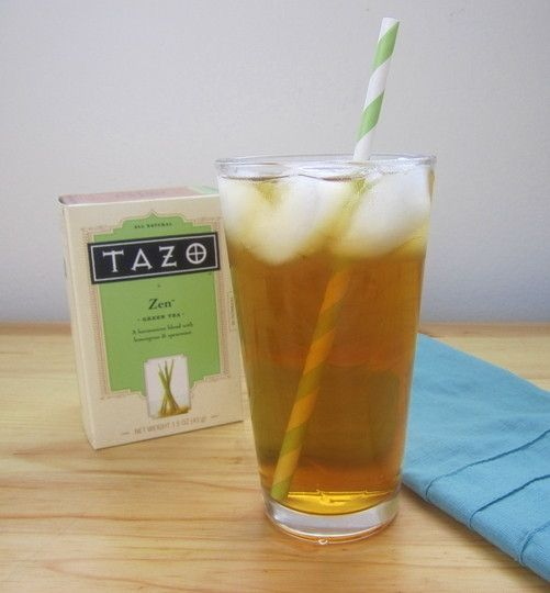 Starbucks Iced Green Tea - bring 2qts water to boil, turn off heat, steep 6-7 tazo green tea bags in covered pot for 15-20. Keep the contrated tea in a pitcher in fridge and add water and ice when you're ready to enjoy.