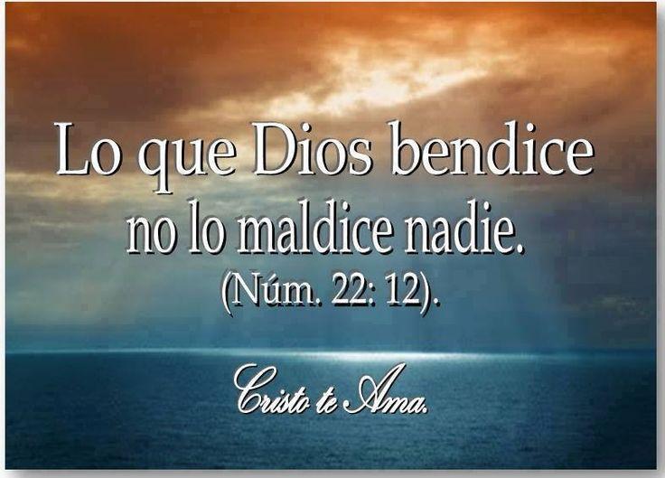 Lo que Dios bendice no lo maldice nadie. Num. 22:12