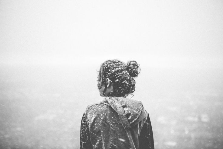 Girl, Woman, Snow, Blizzard, People, Black And White Photo - Visual Hunt
