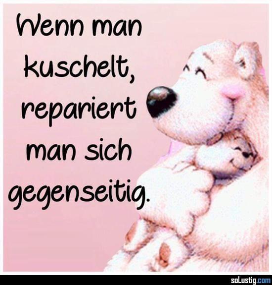 Wenn man kuschelt, repariert man sich gegenseitig! - #gegenseitig #kuscheln #reparieren