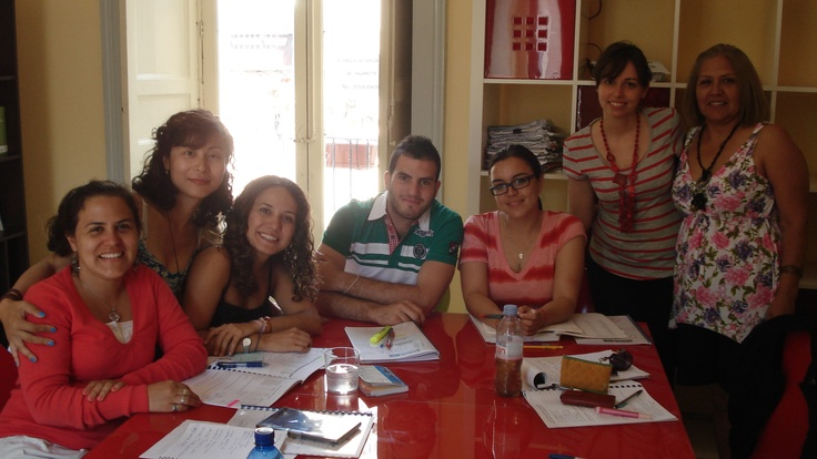 A spring class of this year. Italian language lesson in Federico II.
