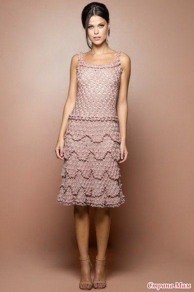Платье неоднократно встречалось на просторах интернета. Имя ему Беллини  Думаю и без моих пояснений все ясно  Рекомендуемая пряжа: - хлопок с вискозой - вискоза - шелк