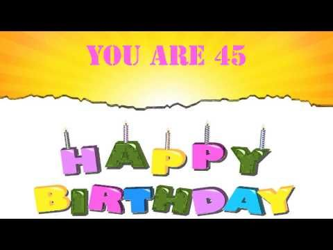 45 Years Old Birthday Song Wishes - YouTube